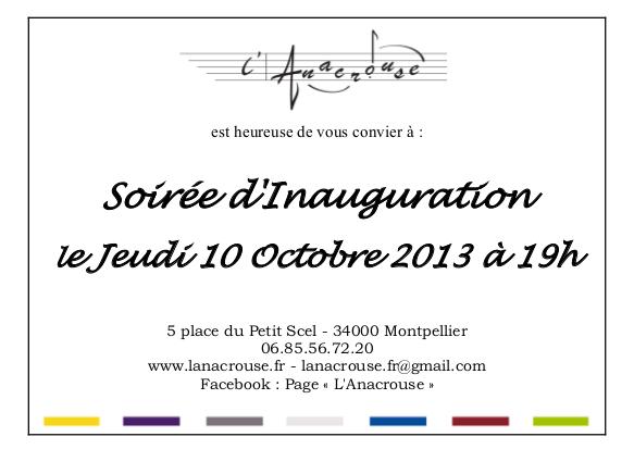 Carton Invitation Inauguration Verso L Anacrouse école